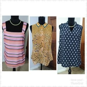 Lot of 3 Cabi Sleeveless blouses small